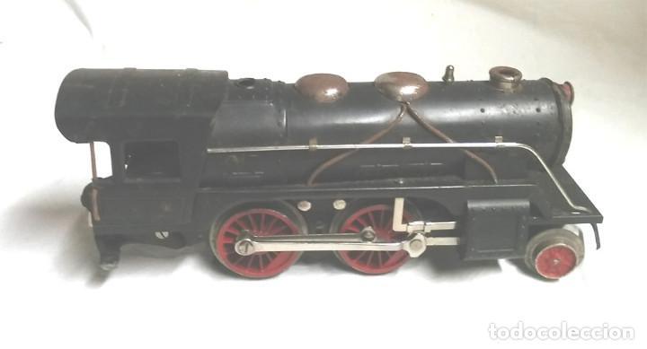 Juguetes antiguos Payá: Tren Escala 0 Locomotora 987 con Tender y 3 Vagones Butacas con luz año 1951 de Paya - Foto 4 - 105281819