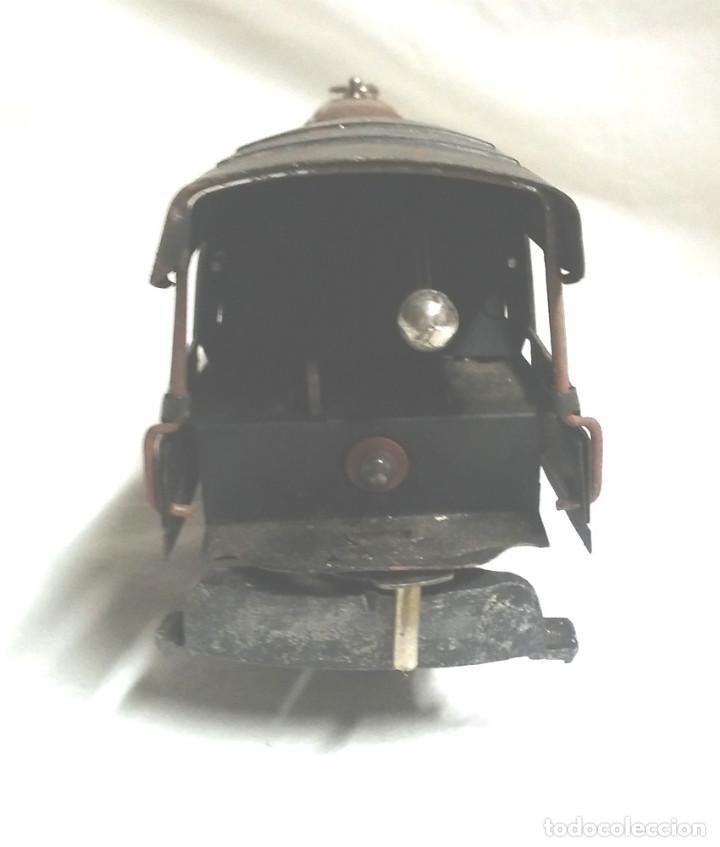 Juguetes antiguos Payá: Tren Escala 0 Locomotora 987 con Tender y 3 Vagones Butacas con luz año 1951 de Paya - Foto 5 - 105281819