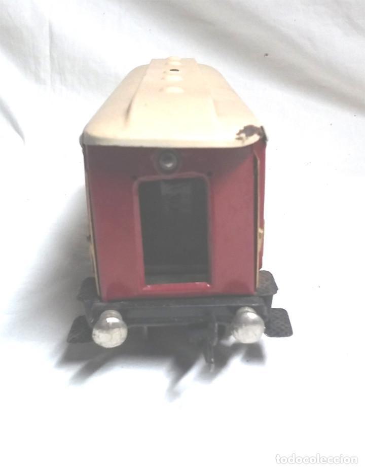 Juguetes antiguos Payá: Tren Escala 0 Locomotora 987 con Tender y 3 Vagones Butacas con luz año 1951 de Paya - Foto 10 - 105281819
