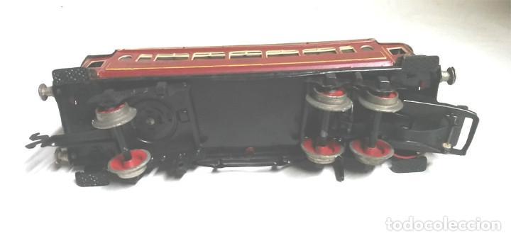Juguetes antiguos Payá: Tren Escala 0 Locomotora 987 con Tender y 3 Vagones Butacas con luz año 1951 de Paya - Foto 11 - 105281819