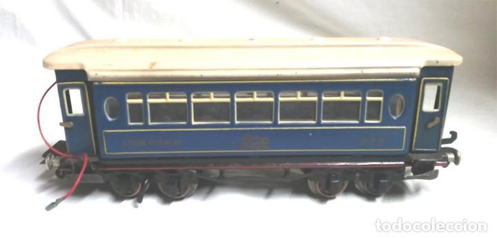 Juguetes antiguos Payá: Tren Escala 0 Locomotora 987 con Tender y 3 Vagones Butacas con luz año 1951 de Paya - Foto 12 - 105281819