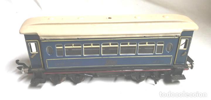 Juguetes antiguos Payá: Tren Escala 0 Locomotora 987 con Tender y 3 Vagones Butacas con luz año 1951 de Paya - Foto 14 - 105281819