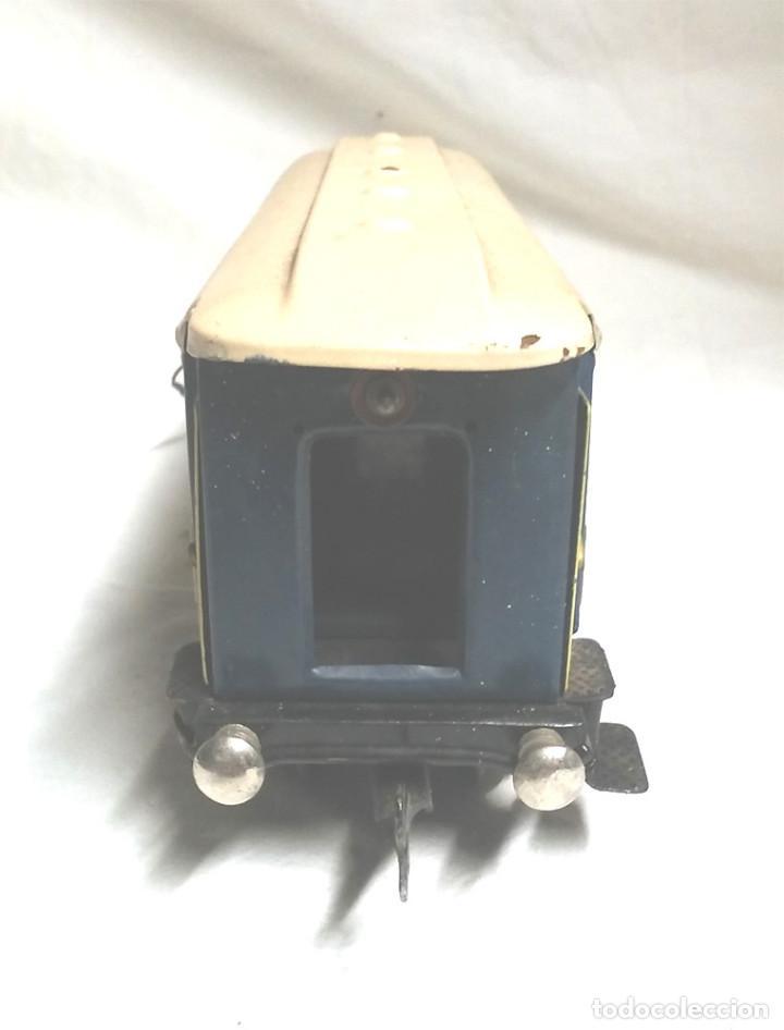 Juguetes antiguos Payá: Tren Escala 0 Locomotora 987 con Tender y 3 Vagones Butacas con luz año 1951 de Paya - Foto 15 - 105281819
