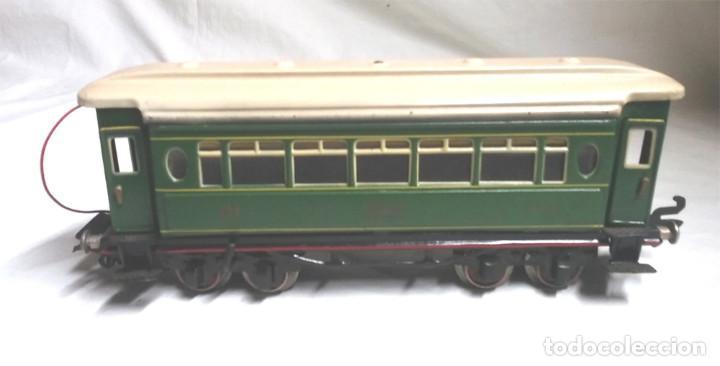 Juguetes antiguos Payá: Tren Escala 0 Locomotora 987 con Tender y 3 Vagones Butacas con luz año 1951 de Paya - Foto 22 - 105281819