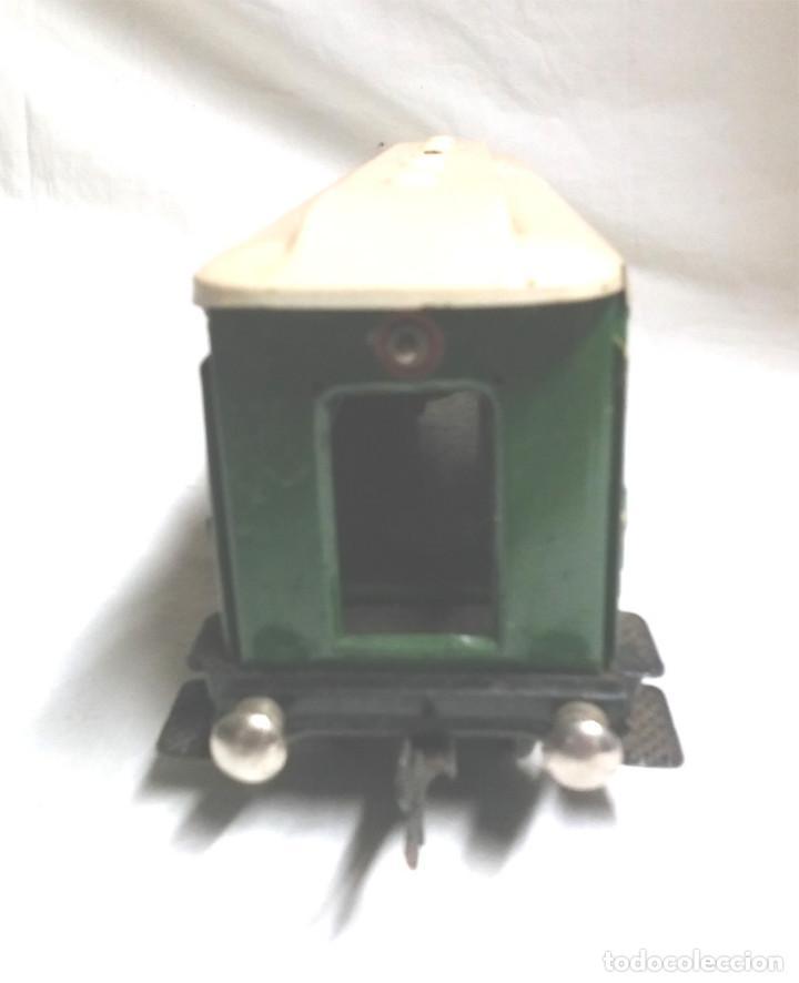 Juguetes antiguos Payá: Tren Escala 0 Locomotora 987 con Tender y 3 Vagones Butacas con luz año 1951 de Paya - Foto 24 - 105281819