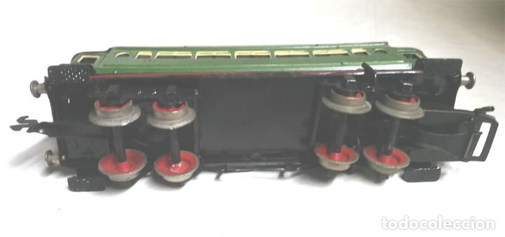 Juguetes antiguos Payá: Tren Escala 0 Locomotora 987 con Tender y 3 Vagones Butacas con luz año 1951 de Paya - Foto 25 - 105281819