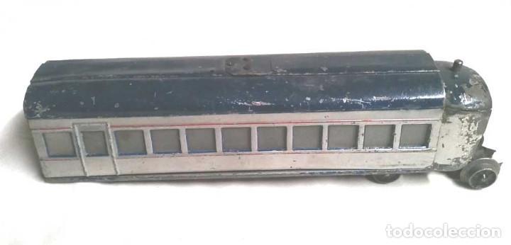 Juguetes antiguos Payá: Talgo Tren electrico Articulado años 40 de Payá, escala 0, motor desmontado - Foto 7 - 114477479