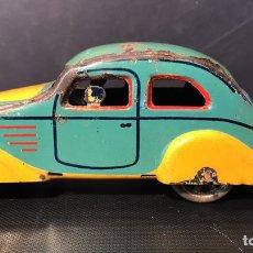 Juguetes antiguos Payá - Auto Aerodinámico sin Resorte. Hojalata. Paya. 12x3,5x4 cm. Años 30/40 - 114680280