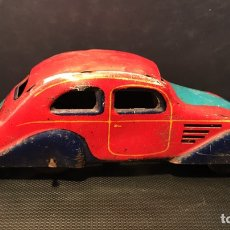 Juguetes antiguos Payá - Auto Aerodinamico sin resorte. Paya. Hojalata. 12x3,5x4 cm. Años 30/40 - 114680591