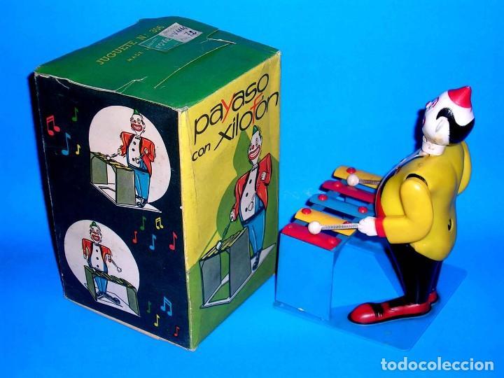 Juguetes antiguos Payá: Payaso con Xilofón ref 306, mecanismo a cuerda, Juguetes Foyé, Barcelona, Paya o similar, años 50-60 - Foto 8 - 115344123