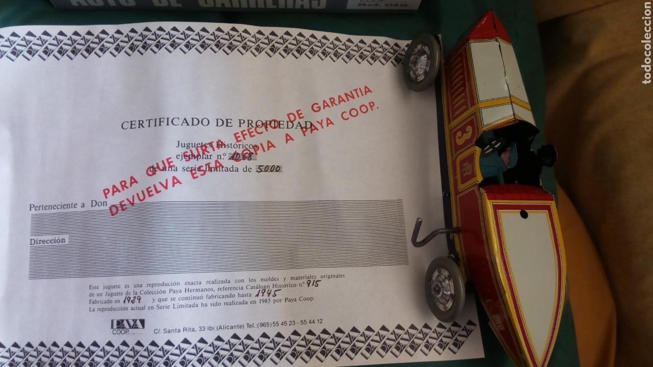 Juguetes antiguos Payá: BOLIDO PAYA. AUTO CARRERAS 915. SERIE LIMITADA 5000 PIEZAS. 1985. NO RICO. JYESA - Foto 4 - 118982550