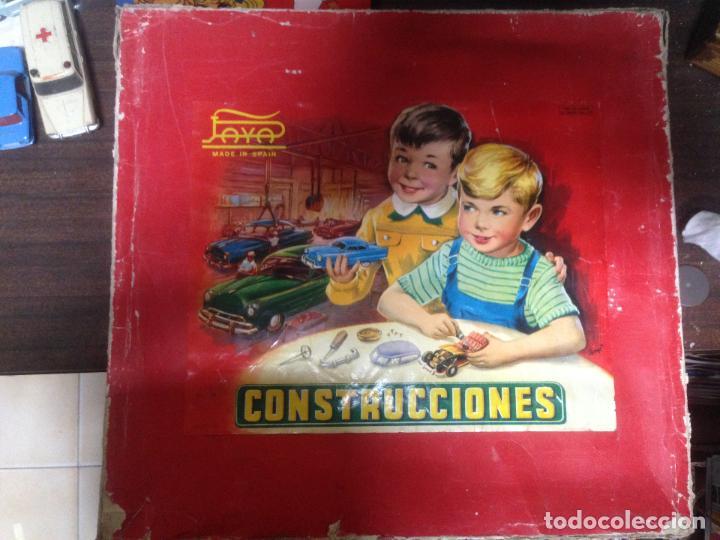 ANTIGUA CAJA CONSTRUCCIONES COCHE PAYA. LEER ATENTAMENTE (Juguetes - Marcas Clásicas - Payá)