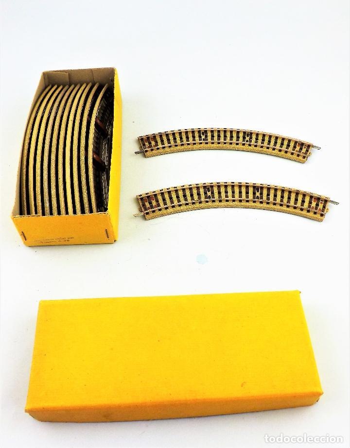 Juguetes antiguos Payá: Paya Vías curvas H0 Caja con 12 unidades - Foto 2 - 130172799