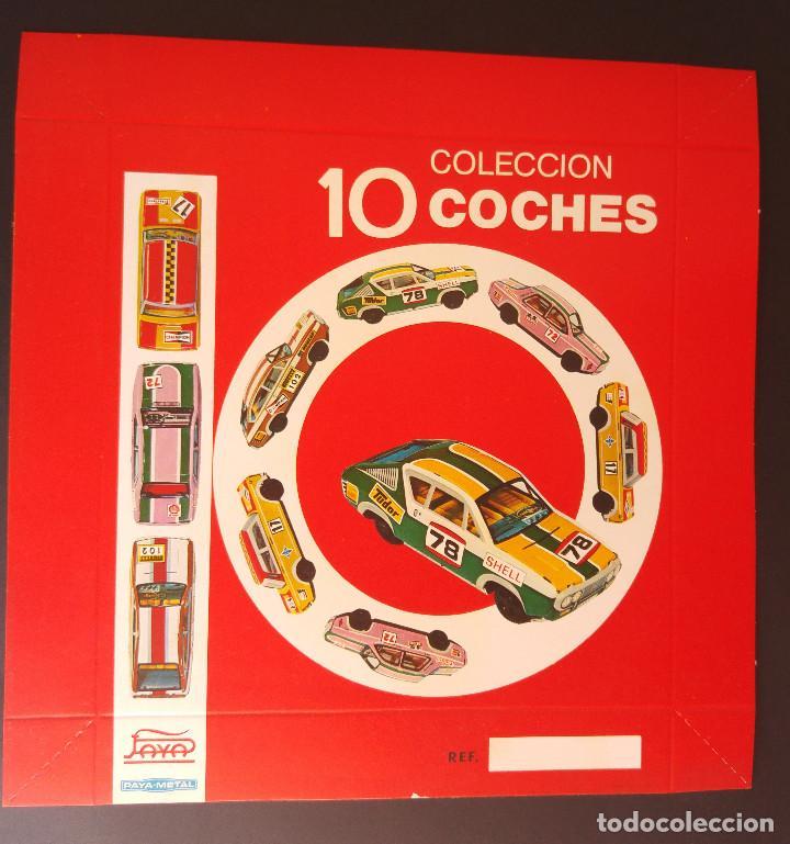 TAPA DE LA CAJA 10 COCHES COLECCION - PAYÁ METAL (Juguetes - Marcas Clásicas - Payá)