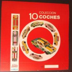 Juguetes antiguos Payá: TAPA DE LA CAJA 10 COCHES COLECCION - PAYÁ METAL. Lote 130681739