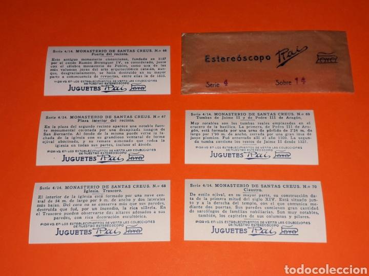 Juguetes antiguos Payá: 5 vistas estereoscópicas 1ª *Santas Creus* para Estereoscopo / Estereoscopio Rai Paya, años 30-40. - Foto 4 - 131174856