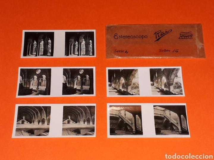 Juguetes antiguos Payá: 5 vistas estereoscópicas 2ª *Santas Creus* para Estereoscopo / Estereoscopio Rai Paya, años 30-40. - Foto 3 - 131175284