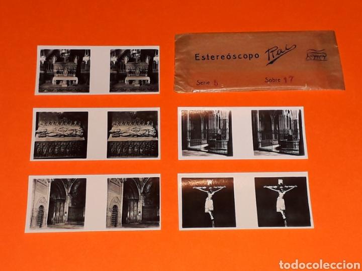 Juguetes antiguos Payá: 5 vistas estereoscópicas 2ª *Barcelona Catedral* para Estereoscopo Estereoscopio Rai Paya, años 30. - Foto 3 - 131175932
