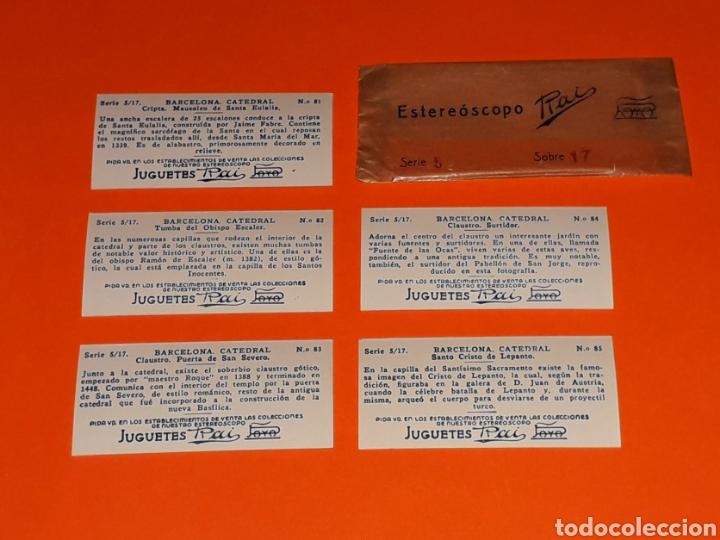 Juguetes antiguos Payá: 5 vistas estereoscópicas 2ª *Barcelona Catedral* para Estereoscopo Estereoscopio Rai Paya, años 30. - Foto 4 - 131175932