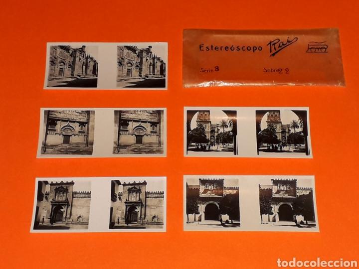 Juguetes antiguos Payá: 5 vistas estereoscópicas *Córdoba La Mezquita* para Estereoscopo Estereoscopio Rai Paya, años 30-40. - Foto 3 - 131177644