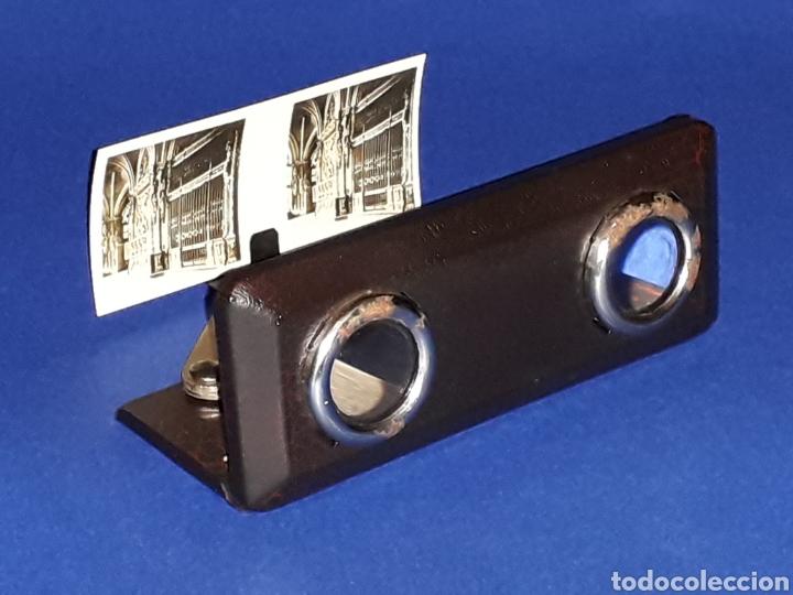 Juguetes antiguos Payá: Visor Estereoscopo Estereoscopio + 3 sobres con vistas + 2 hojas, Rai Paya, años 40. Con caja. - Foto 6 - 131204096