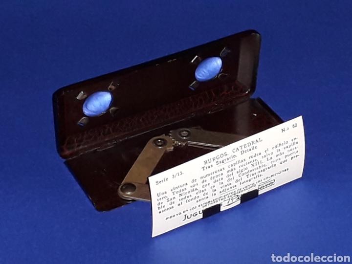 Juguetes antiguos Payá: Visor Estereoscopo Estereoscopio + 3 sobres con vistas + 2 hojas, Rai Paya, años 40. Con caja. - Foto 7 - 131204096