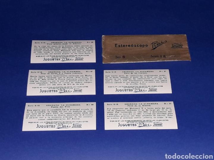 Juguetes antiguos Payá: Visor Estereoscopo Estereoscopio + 3 sobres con vistas + 2 hojas, Rai Paya, años 40. Con caja. - Foto 10 - 131204096