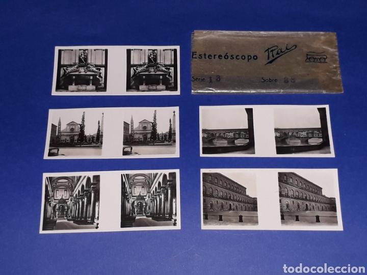 Juguetes antiguos Payá: Visor Estereoscopo Estereoscopio + 3 sobres con vistas + 2 hojas, Rai Paya, años 40. Con caja. - Foto 13 - 131204096