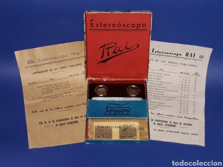 Juguetes antiguos Payá: Visor Estereoscopo Estereoscopio + 3 sobres con vistas + 2 hojas, Rai Paya, años 40. Con caja. - Foto 15 - 131204096
