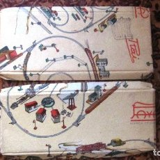 Juguetes antiguos Payá: PAYA: DOS ANTIGUAS TAPAS DE MATERIAL DE TRENES. Lote 135195670