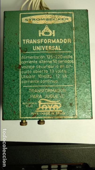TRANSFORMADOR SLOT CLÁSICO STROMBECKER PAYA 125/220 FUNCIONANDO -NO SCALEXTRIC - (Juguetes - Marcas Clásicas - Payá)