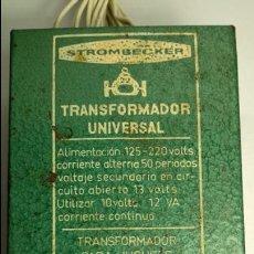 Juguetes antiguos Payá: TRANSFORMADOR SLOT CLÁSICO STROMBECKER PAYA 125/220 FUNCIONANDO -NO SCALEXTRIC-. Lote 135694531
