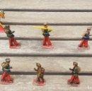 Juguetes antiguos Payá: LOTE DE 10 SOLDADOS DE PAYA DE HOJALATA (LATA)CABALLERÍA ALFONSO XIII ORIGINALES DE LOS AÑOS 30 / 40. Lote 139328966