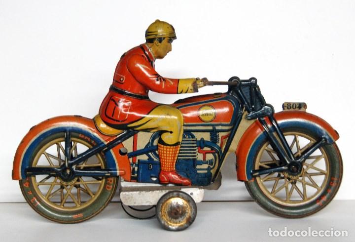 Juguetes antiguos Payá: PAYÁ Nº 804 ORIGINAL - MOTOCICLETA - Foto 2 - 140483506