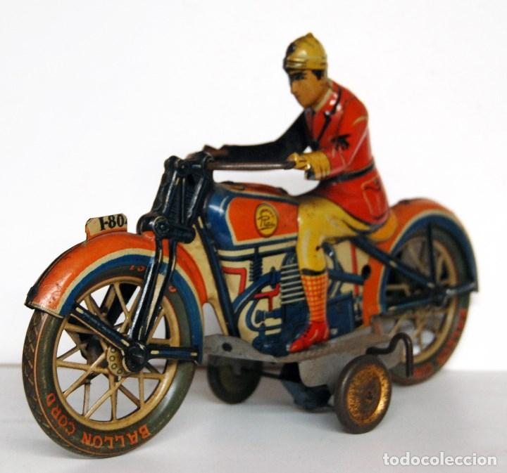 Juguetes antiguos Payá: PAYÁ Nº 804 ORIGINAL - MOTOCICLETA - Foto 4 - 140483506
