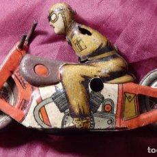 Juguetes antiguos Payá - MOTO NO CAE MOTORISTA DE HOJALATA DE PAYA RAI ORIGINAL INCOMPLETO - 144685926