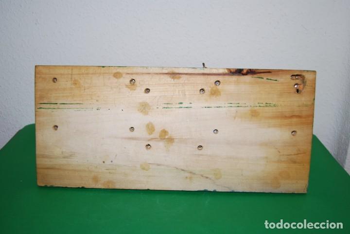 Juguetes antiguos Payá: ESTACIÓN DE TREN PAYA - METAL Y BASE DE MADERA - Foto 19 - 146877742