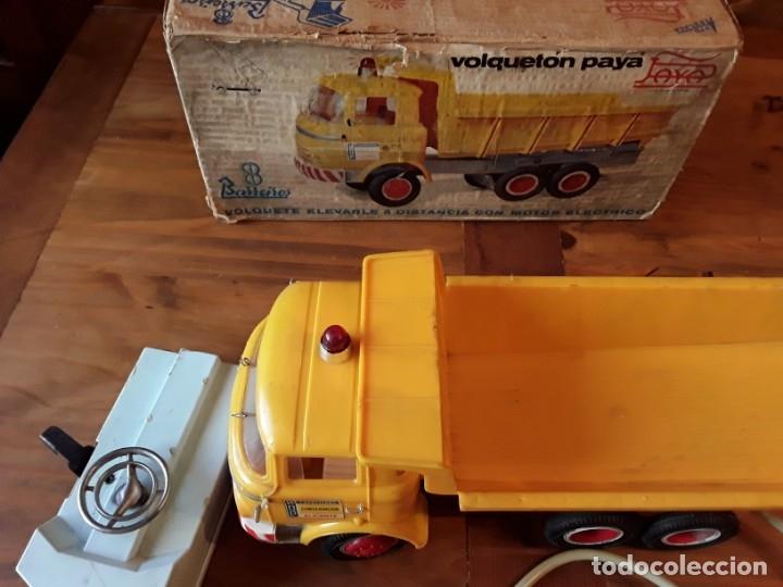 Juguetes antiguos Payá: Paya camión volqueton, , barreiros, funcionando todo, caja, carnet. - Foto 2 - 151504874