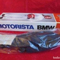 Juguetes antiguos Payá: MUÑECO PILOTO MOTORISTA PAYA CON CASCO Y CAJA- PARA LA BMW 100 RS BMW PAYA 43 CMS - NUNCA JUGADO. Lote 151519898