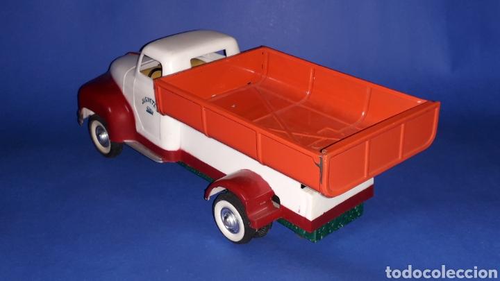 Juguetes antiguos Payá: Camión volquete, plástico-lata, mecanismo de cuerda, Paya IBI made in Spain, año 1958. Con caja. - Foto 6 - 27445548