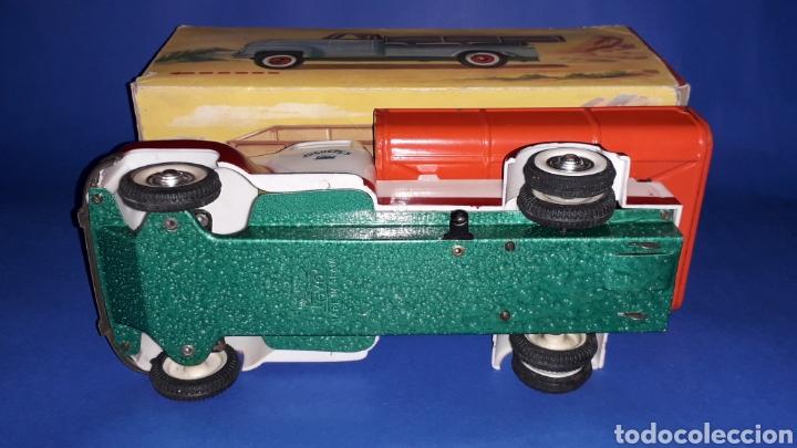 Juguetes antiguos Payá: Camión volquete, plástico-lata, mecanismo de cuerda, Paya IBI made in Spain, año 1958. Con caja. - Foto 10 - 27445548