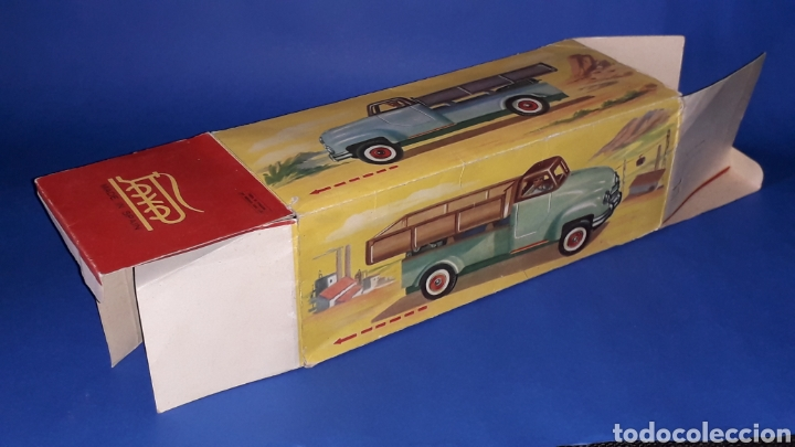 Juguetes antiguos Payá: Camión volquete, plástico-lata, mecanismo de cuerda, Paya IBI made in Spain, año 1958. Con caja. - Foto 14 - 27445548