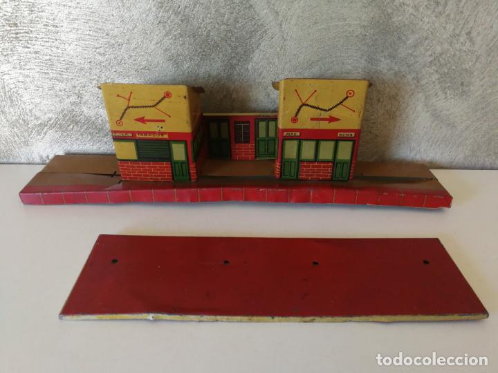 Juguetes antiguos Payá: ANTIGUA ESTACIÓN APEADERO DE HOJALATA PAYÁ RAI - Foto 4 - 154312646