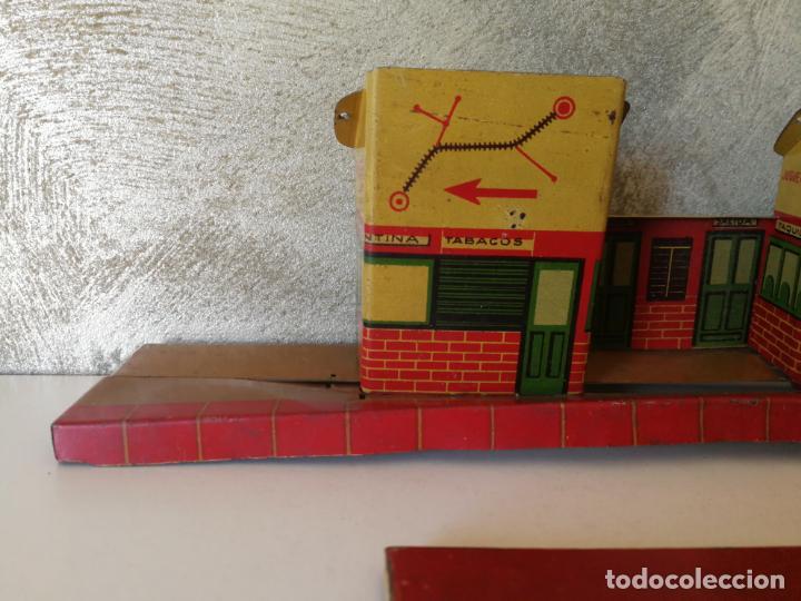 Juguetes antiguos Payá: ANTIGUA ESTACIÓN APEADERO DE HOJALATA PAYÁ RAI - Foto 5 - 154312646