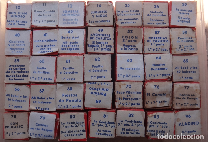 Juguetes antiguos Payá: LOTE DE 35 PELICULAS , PELICULA PAYA , DIFERENTES EN CAJA , VER FOTOS, NUMEROS , ORIGINALES. - Foto 3 - 165365246