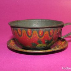 Juguetes antiguos Payá: PAYA TAZA Y PLATO DE TE O CAFE - AÑOS 1920/30 - LITOGRAFIADA. Lote 165392526