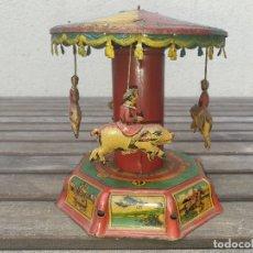 Juguetes antiguos Payá: ANTIGUO TIOVIVO (CARRUSEL) DE LA PAYA DE HOJALATA (LATA), FUNCIONA PERFECTAMENTE.. Lote 166151938