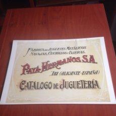 Juguetes antiguos Payá: CATALOGO JUGUETES PAYA. Lote 170859550