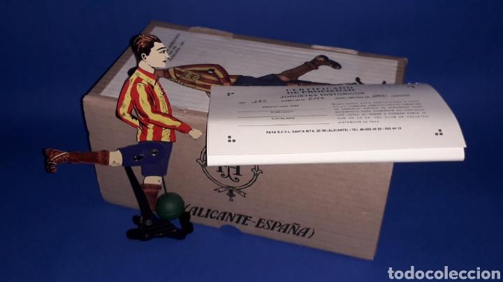 Juguetes antiguos Payá: Futbolista ref. 385, Paya Reedición serie numerada Juguete Histórico, Ibi Alicante España. Año 1996. - Foto 3 - 175410630