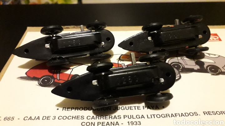 Juguetes antiguos Payá: Coches Carreras Pulga 665, Paya Reedición numerada Juguete Histórico, Ibi Alicante España. Año 1998. - Foto 4 - 175412749